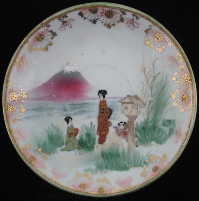 Antique Oriental Hand Painted Plate
