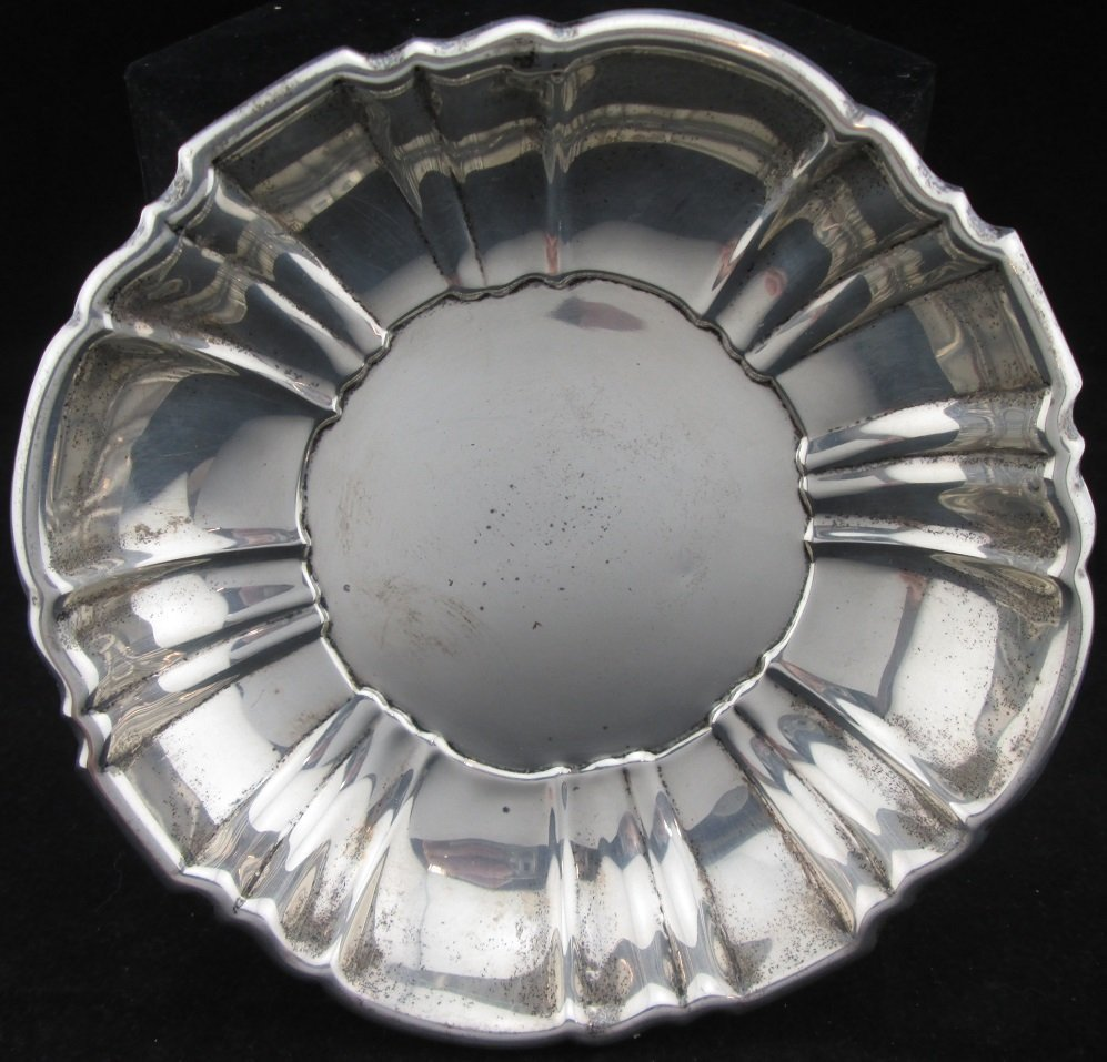Vintage Poole Sterling Silver Dish
