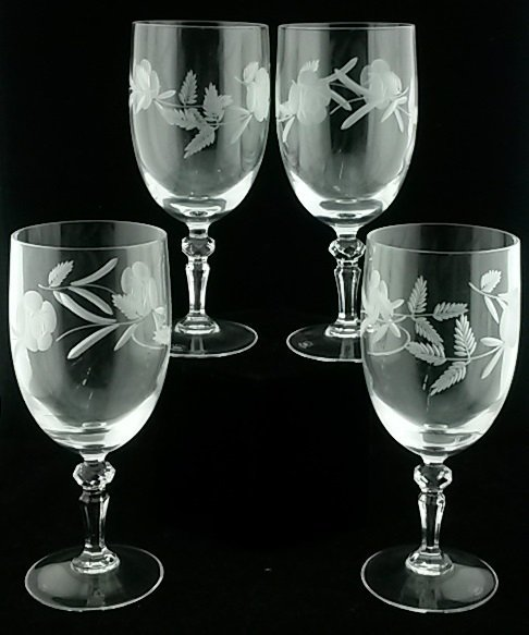 Set of 4 Royal Doulton Crystal Wine Glasses