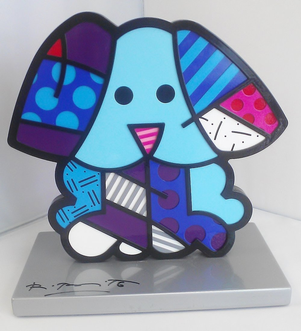 Romero Britto Signed & Numbered Dog Sculpture