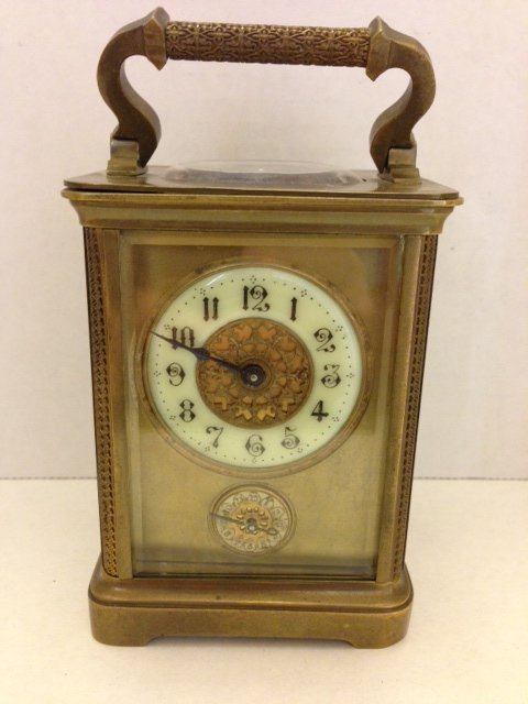 Antique Bronze French Mechanical Carriage Clock