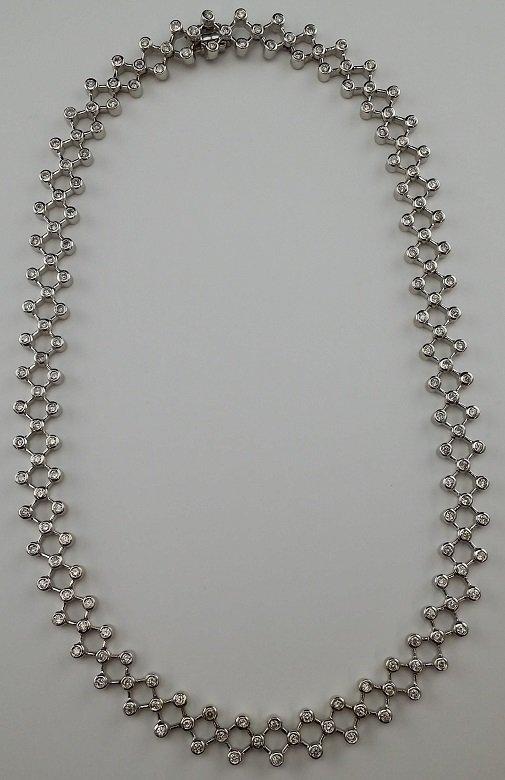 14kt White Gold & Diamond Necklace