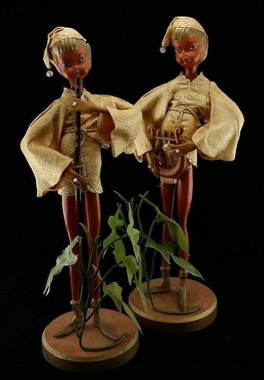 Pair of Vintage Musical Elves