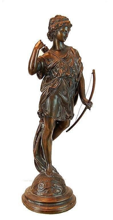 """Diana The Huntress"" Copper Patina Sculpture"