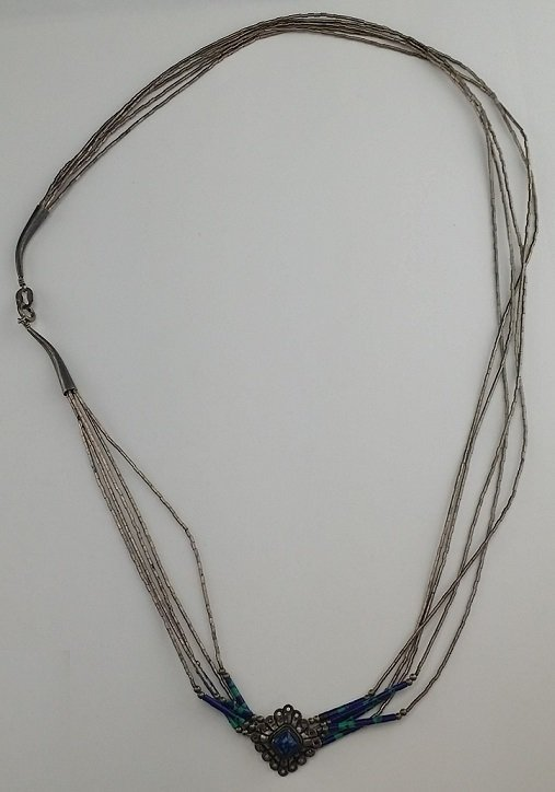 Sterling Silver Multi Strand Necklace