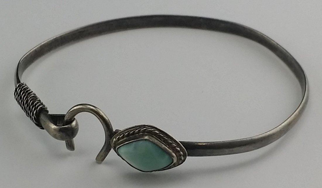Sterling & Turquoise Bangle Bracelet