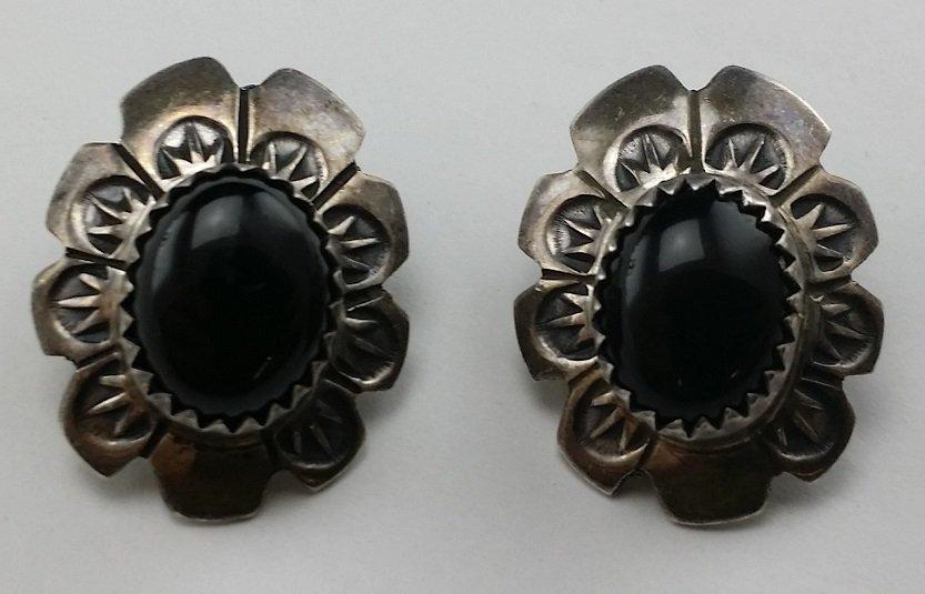 Pair of Vintage Signed Sterling Silver Earrings