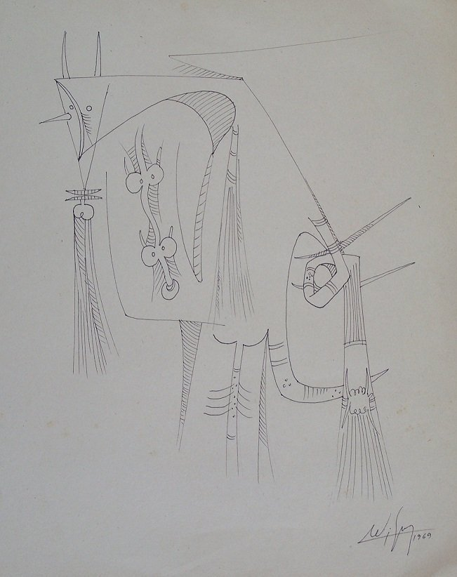 WIFREDO LAM (Cuban 1912-1982)