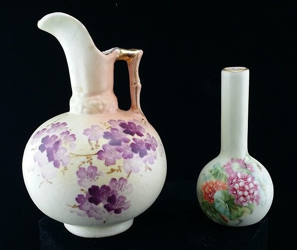 Lot of 2 Hand Painted European Porcelain