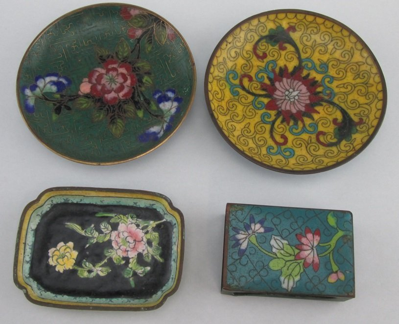 Lot of 4 Pieces of 19th Century Chinese Enamel