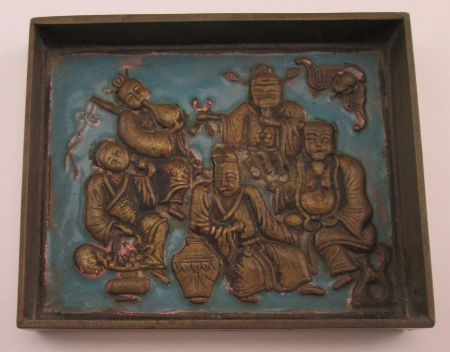 19th Century Chinese Enameld Plaque