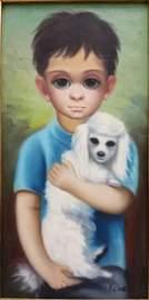 Margaret Keane (American Artist) Oil on Canvas
