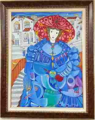 Jose Maria Mijares (Cuban) Oil on Canvas