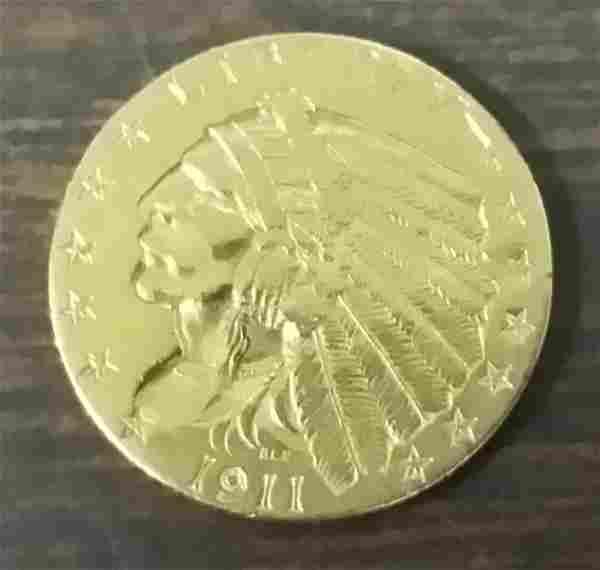 1911 US Gold 2½ Dollar Coin