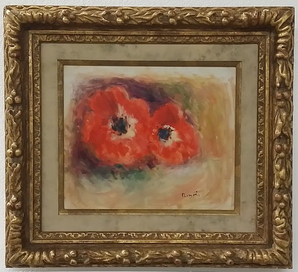 Poppies Oil on Canvas Signed Renoir