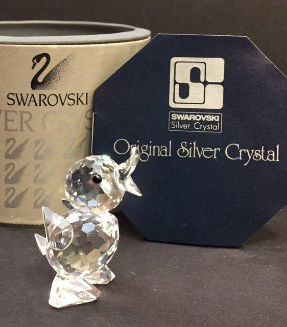 Genuine SWAROVSKI Silver Crystal Duckling