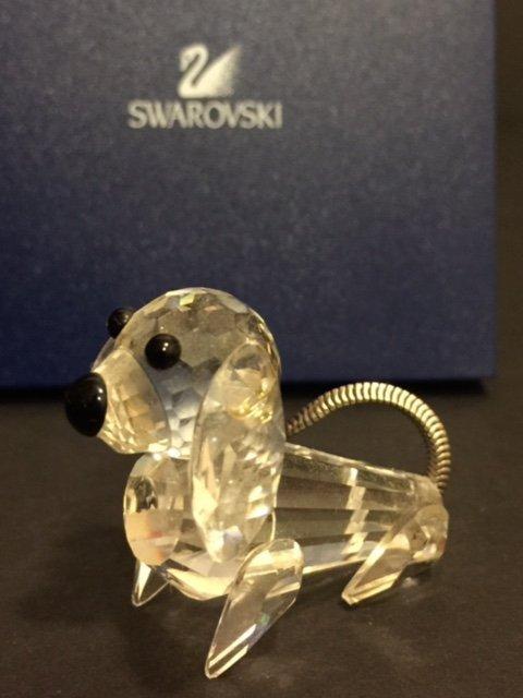 Genuine SWAROVSKI Silver Crystal DOG
