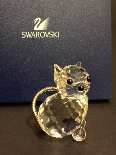 Genuine SWAROVSKI Silver Crystal CAT