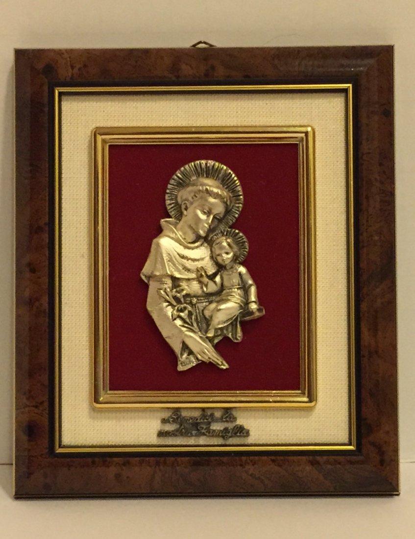 Peltro Argentato Italy 999 Silver Religious Icon