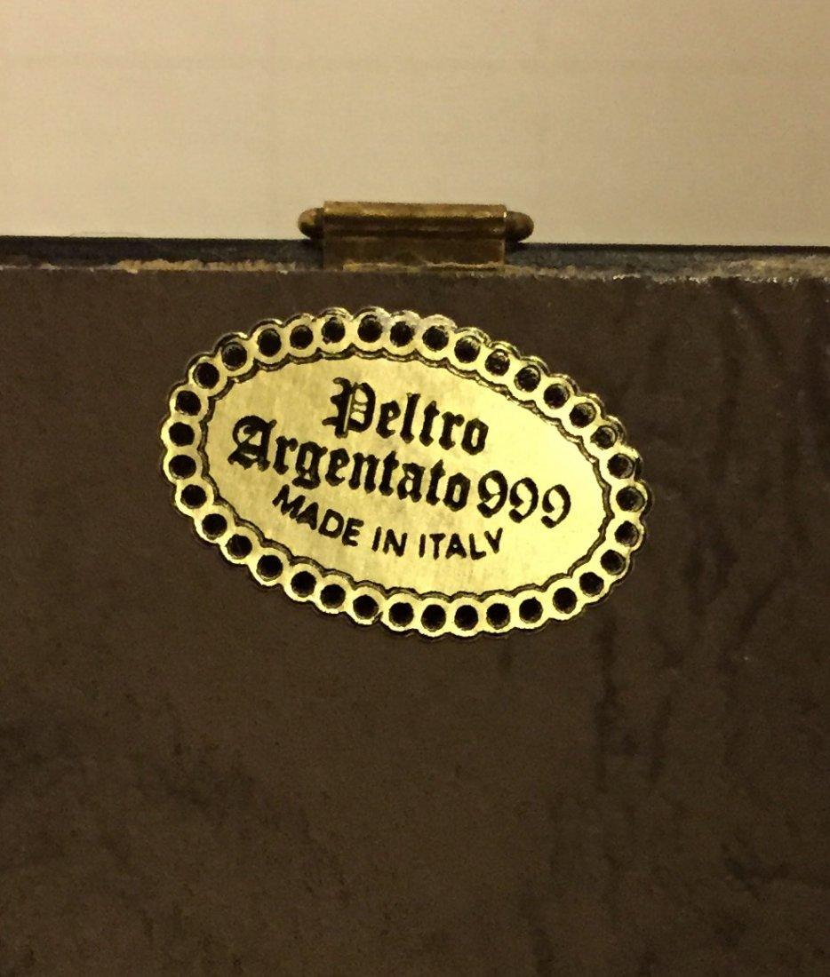 Peltro Argentato Italy 999 Silver Religious Icon - 2