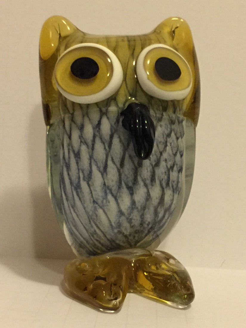 Awesome MURANO Italy Art Glass Owl