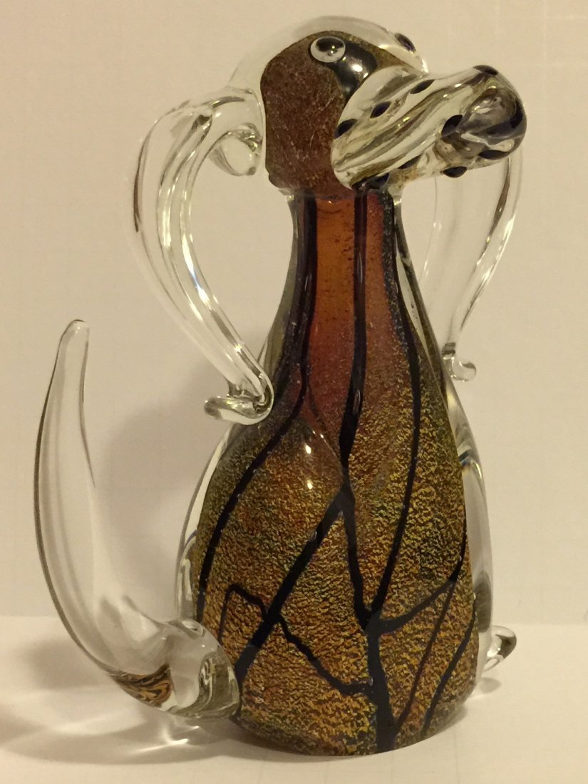 Awesome MURANO Italy Art Glass Dog