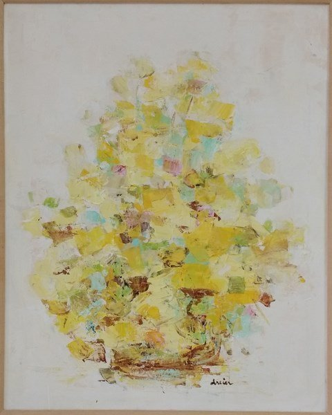 Katherine Dreier vintage abstract floral painting with