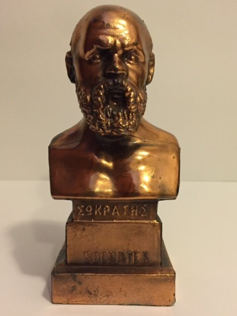 Rare METAMEE Gilded Heavy Metal Bust of SOCRATES