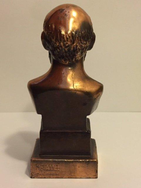 Rare METAMEE Gilded Heavy Metal Bust of SOCRATES - 2