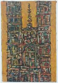 RENE PORTOCARRERO (Cuban 1912-1985) Oil On Canvas