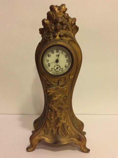 Rare 1894 Jennings Brothers Gold Gild Mantle Clock