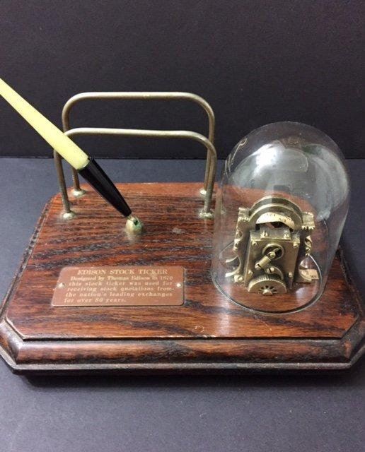 Model 1870 Thomas Edison Stock Ticker