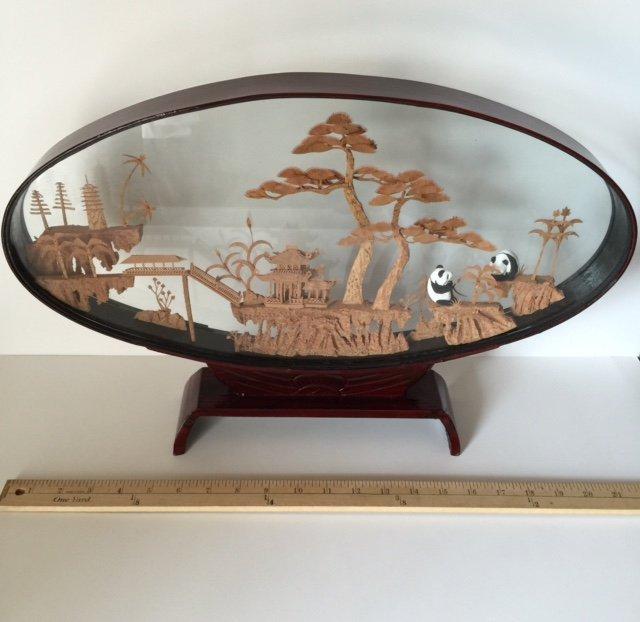 Large Oriental/Chinese Cork Art Display