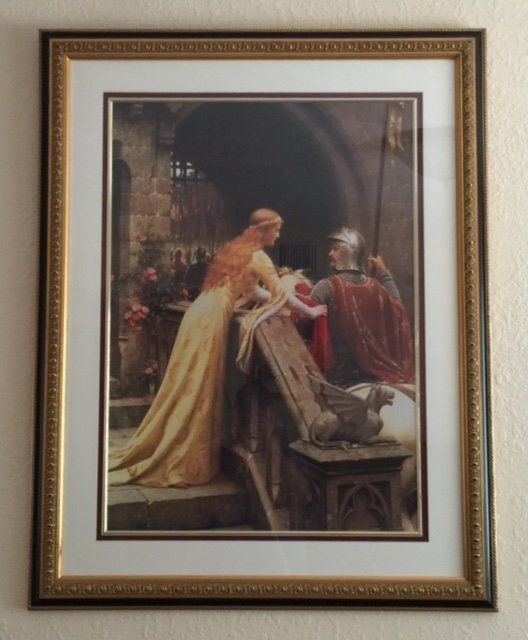 Listed Artist EDMOND BLAIR LEIGHTON Medieval Litho