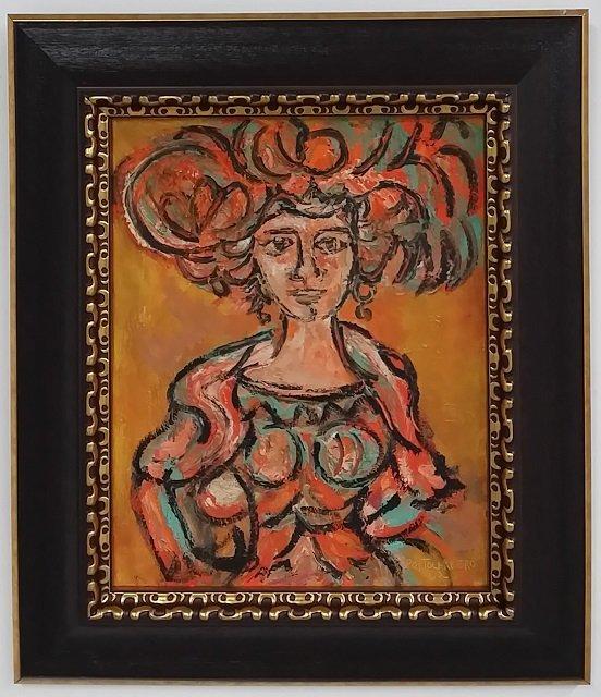 Rene Portocarrero Oil on Canvas 1962