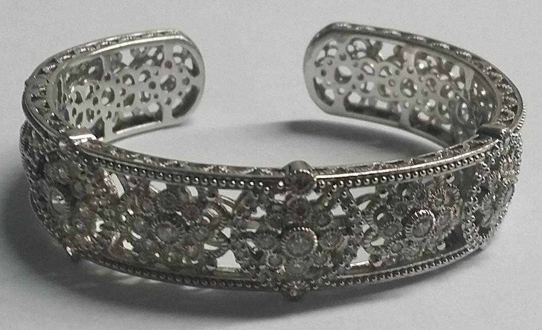 Beautiful Sterling Judith Ripka Cuff Bracelet