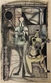 Mario Carreno Mixed Media on Paper, 1947