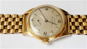 Vintage Longines Cuervo Y Sobrinos 18k Yellow Gold