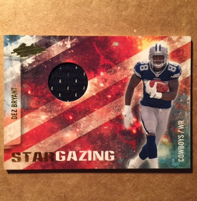Authentic DEZ BRYANT Rookie Jersey Football Card