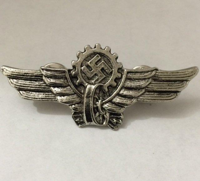 German NAZI Swastika Wings - Soldiers Uniform Pin