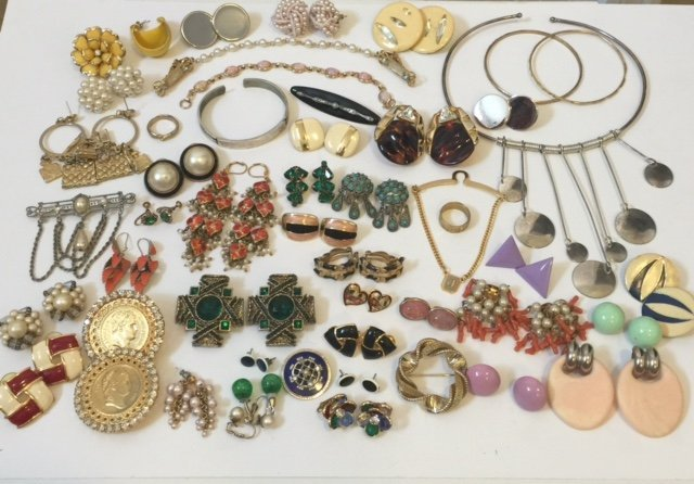 Large Lot High End Vintage Costume Jewelry Lot