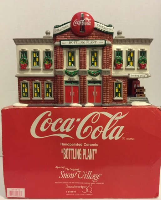 "Rare COCA COLA ""Bottling Plant"" by Department 56"