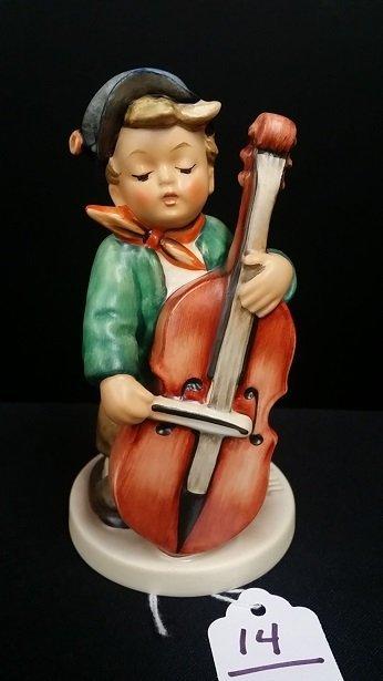 Goebel MJ Hummel Figurine Boy w/ Cello
