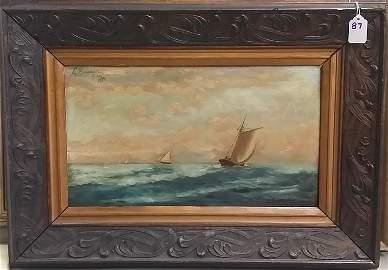 Leopoldo Romanach Oil on Wood, Dated 1898 w/ Cert