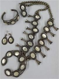 Beautiful Native American Sterling & Mother Of Pearl