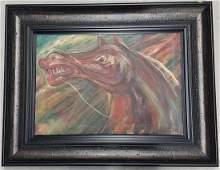 Carlos Enriquez Oil on Canvas w/COA