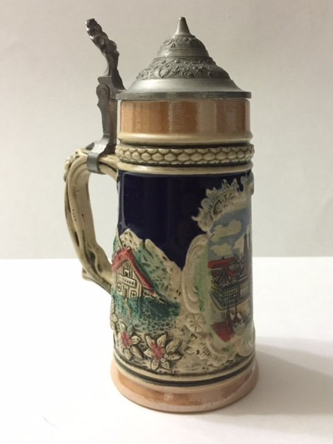Rare Early EGON BAY HANDARBEIT German Beer Stein