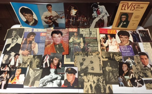 Large Lot of 1960's/70's ELVIS Paper Collectibles