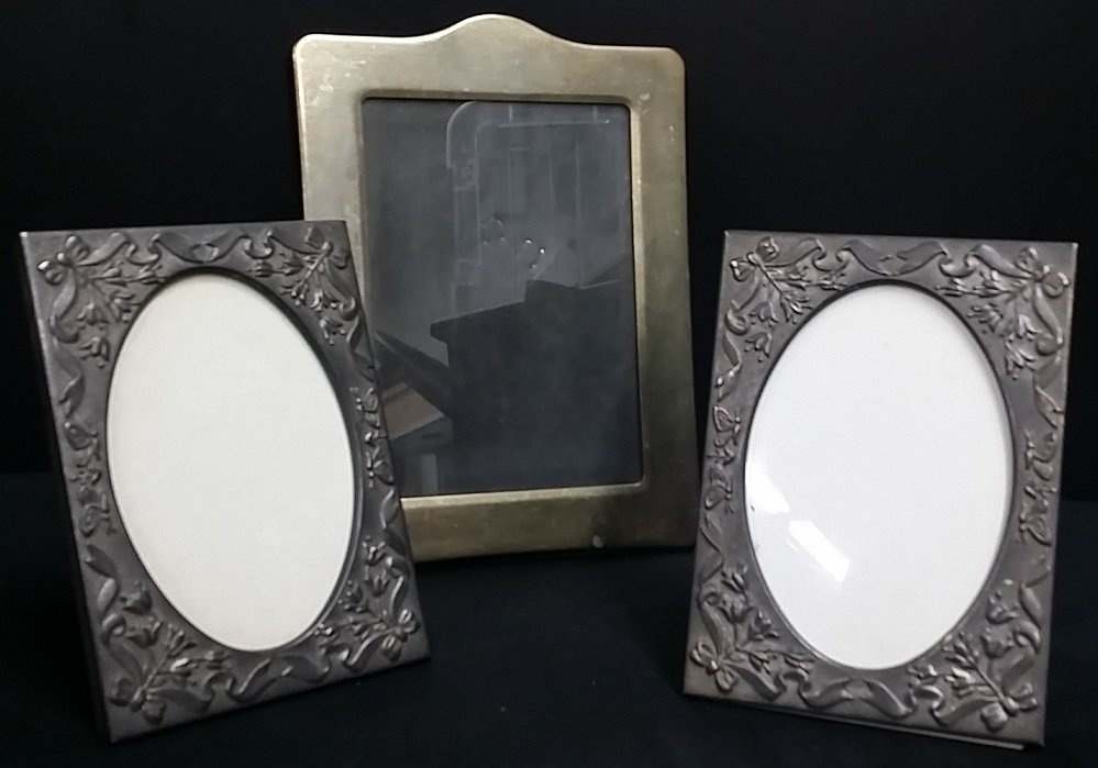 Lot of 3 Silver Tone Frames