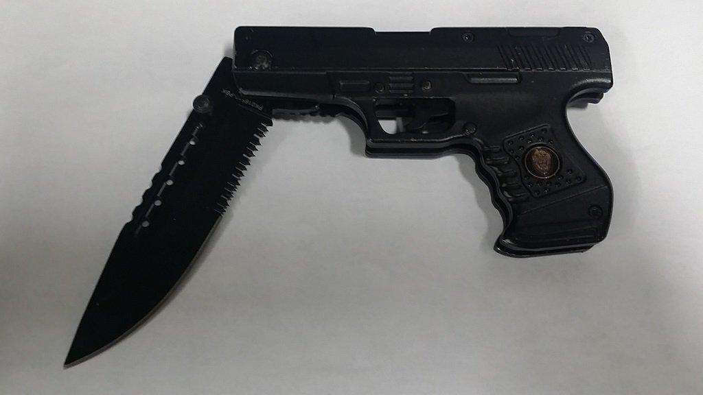Pistol Style Folding Knife with Belt Clip